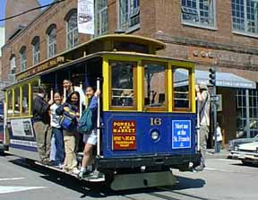 Photo of modern San Francisco cable car