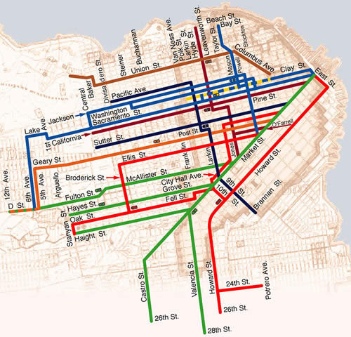 Cable Car Lines Map Fullest Extent